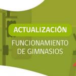 """Nuevas indicaciones para funcionamiento de gimnasios del Plan """"Paso a Paso"""""""
